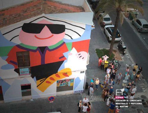 La UPV y Las Naves rinden tributo a la oceanógrafa Josefina Castellví en el Cabanyal con un mural en al sede de ACIPMAR