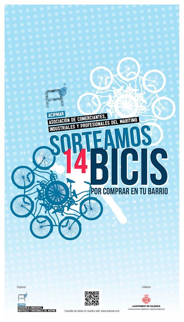 sorteo de 14 bicicletas