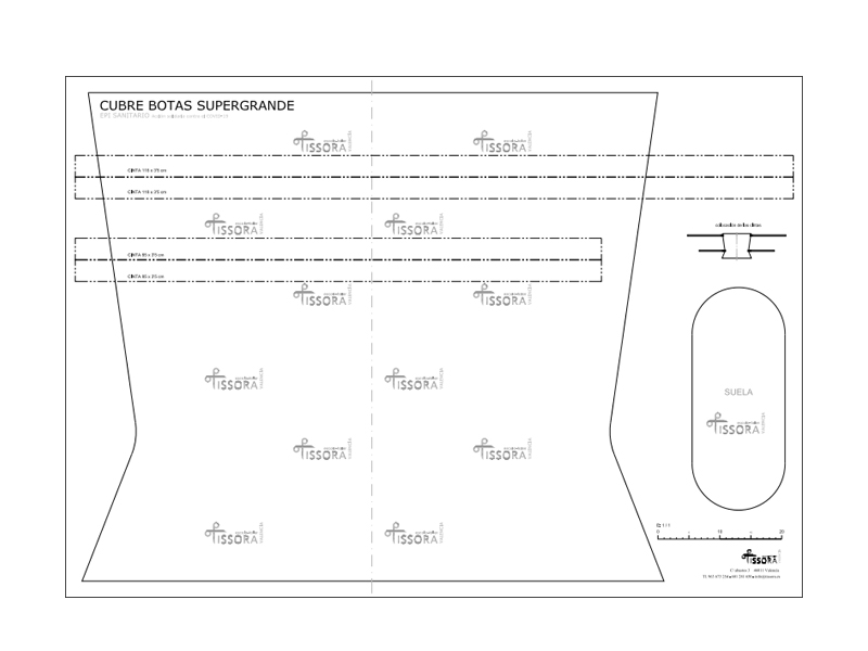 Cubrebotas supergrande, para impresora gran formato. Hoja DIN A0 118,9 x 84 cm